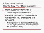 adjustment letters how to say no diplomatically