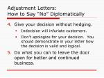 adjustment letters how to say no diplomatically2