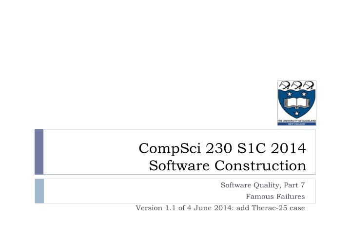 compsci 230 s1c 2014 software construction n.