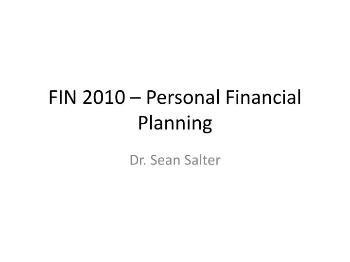 fin 2010 personal financial planning n.