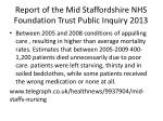 report of the mid staffordshire nhs foundation trust public inquiry 2013