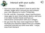 interact with your audio step 1
