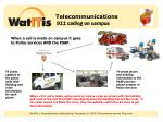 telecommunications 911 calling on campus1