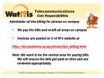 telecommunications core responsibilities1
