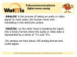telecommunications digital versus analog