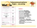 telecommunications rogers new pricing