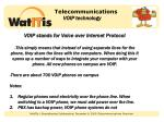 telecommunications voip technology