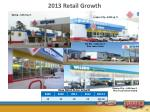 2013 retail growth