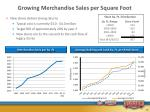 growing merchandise sales per square foot