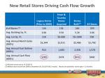new retail stores driving cash flow growth
