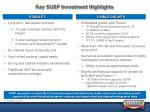 key susp investment highlights