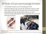 iii rule of law increasingly broken