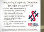 inequality corporate dominion crime t he case of ge