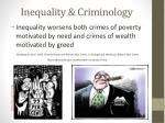 inequality criminology
