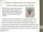 limits of discourse on corporate crime in the corporate media