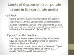 limits of discourse on corporate crime in the corporate media1