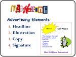 advertising elements