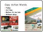 copy action words