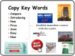copy key words