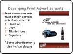 developing print advertisements