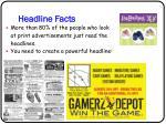 headline facts