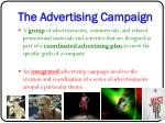 the advertising campaign