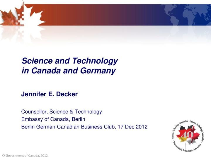 science and technology in canada and germany n.