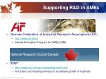 supporting r d in smes