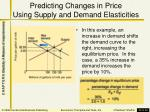 predicting changes in price using supply and demand elasticities1