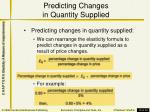 predicting changes in quantity supplied