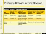 predicting changes in total revenue1