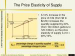 the price elasticity of supply1