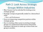 path 2 look across strategic groups within industries
