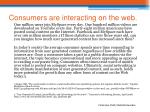 consumers are interacting on the web