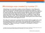 knickstape was created by number 21