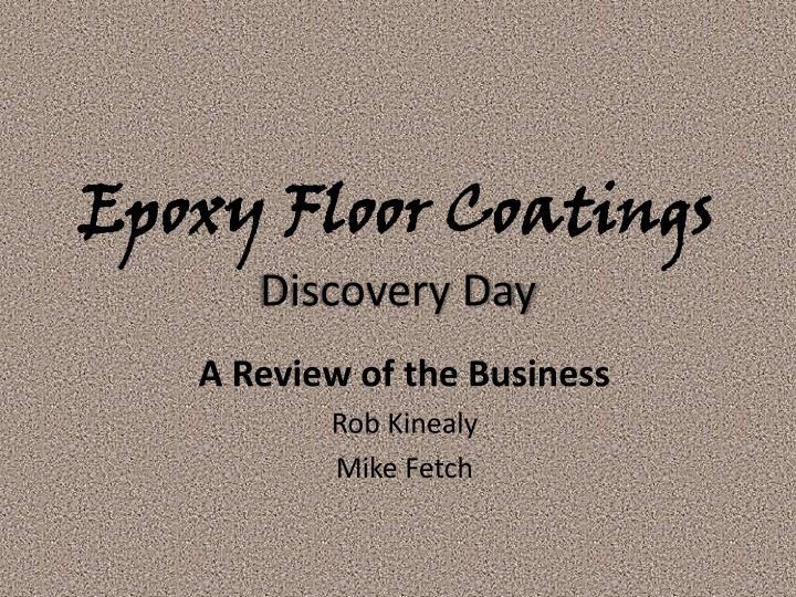 epoxy floor coatings discovery day n.