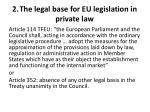 2 the legal base for eu legislation in private law