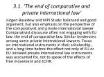 3 1 the end of comparative and private international law