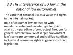 3 3 the interference of eu law in the national law autonomies