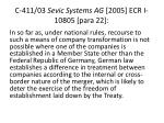 c 411 03 sevic systems ag 2005 ecr i 10805 para 22