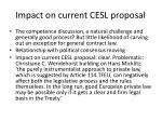 impact on current cesl proposal