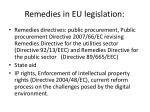 remedies in eu legislation
