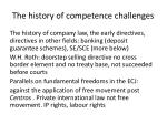the history of competence challenges
