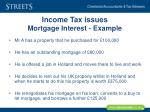 income tax issues mortgage interest example