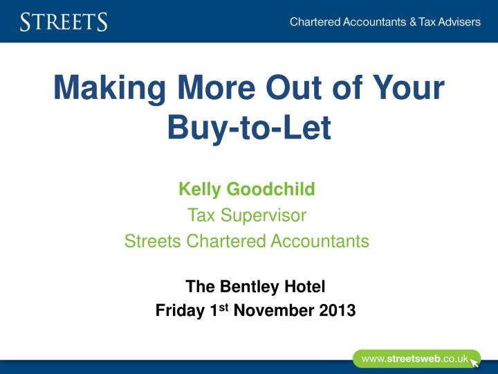 making more out of your buy to let n.