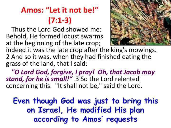 "Amos: ""Let it not be!""  (7:1-3)"
