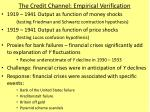 the credit channel empirical verification