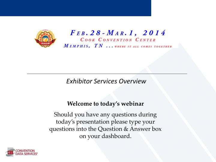 exhibitor services overview n.