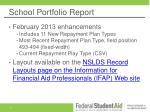 school portfolio report