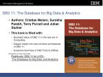 db2 11 the database for big data analytics
